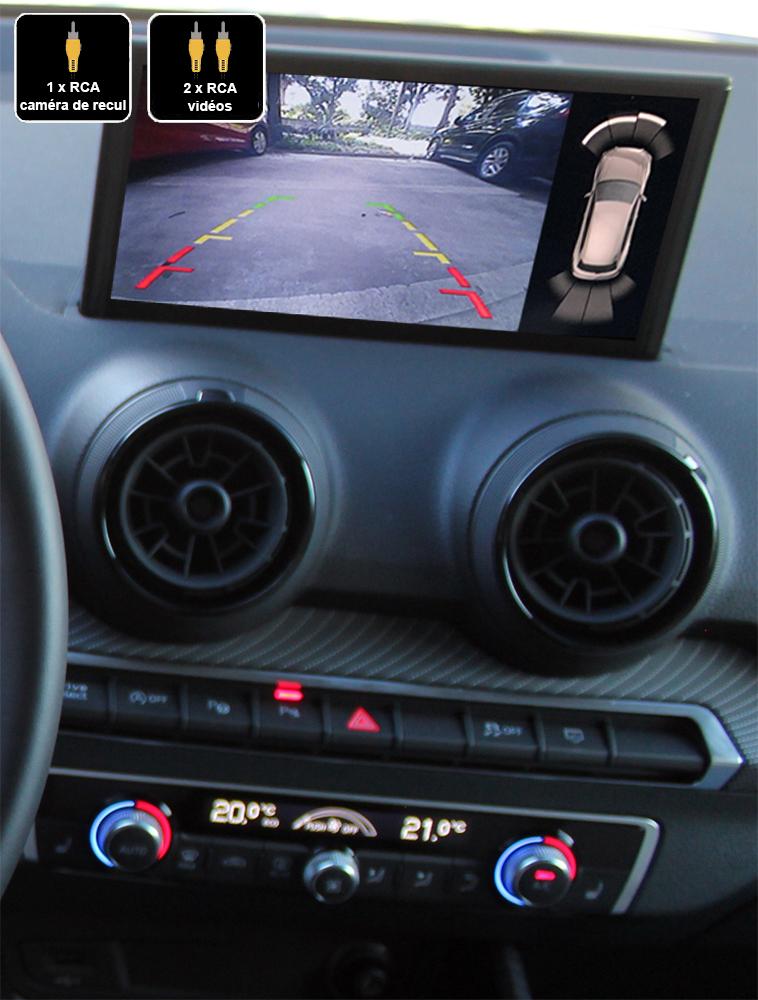 Interface Multimédia vidéo pour caméra de recul Audi Q2 depuis 09/2016
