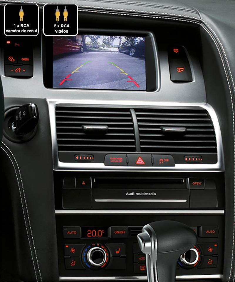 Interface Multimédia vidéo pour caméra compatible Audi Q7 de 2010 à 2015