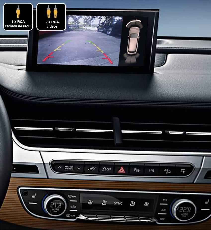 Interface Multimédia vidéo pour caméra de recul Audi Q7 depuis 2015