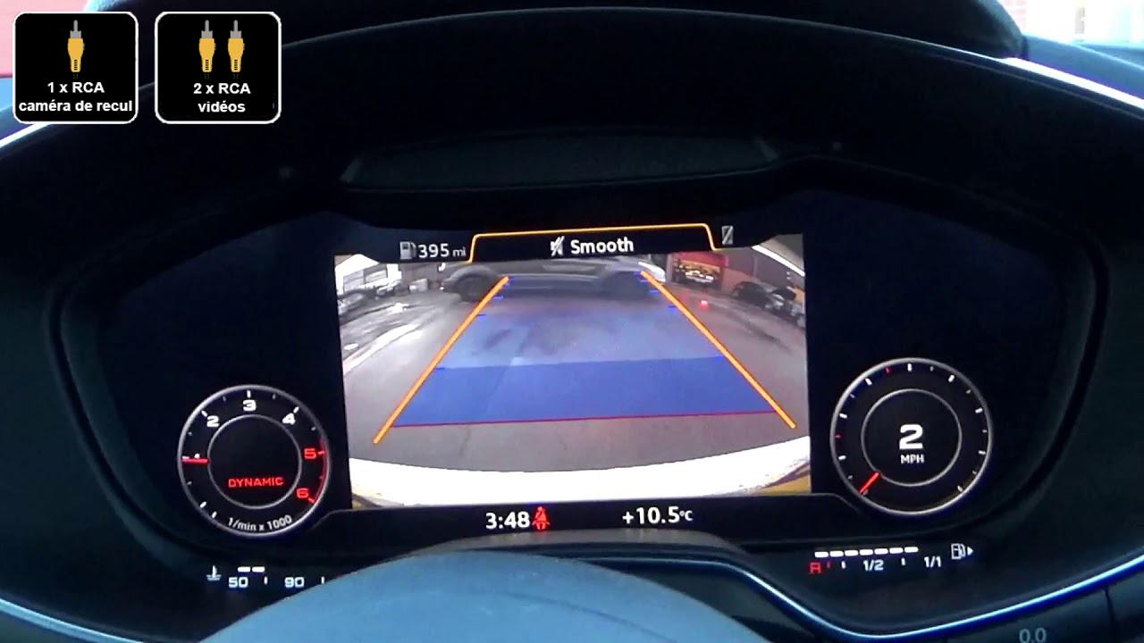 Interface Multimédia vidéo pour caméra de recul Audi TT depuis 2015