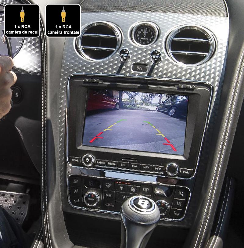 Interface Multimédia vidéo pour caméra compatible Bentley Continental GT de 2011 à 2017