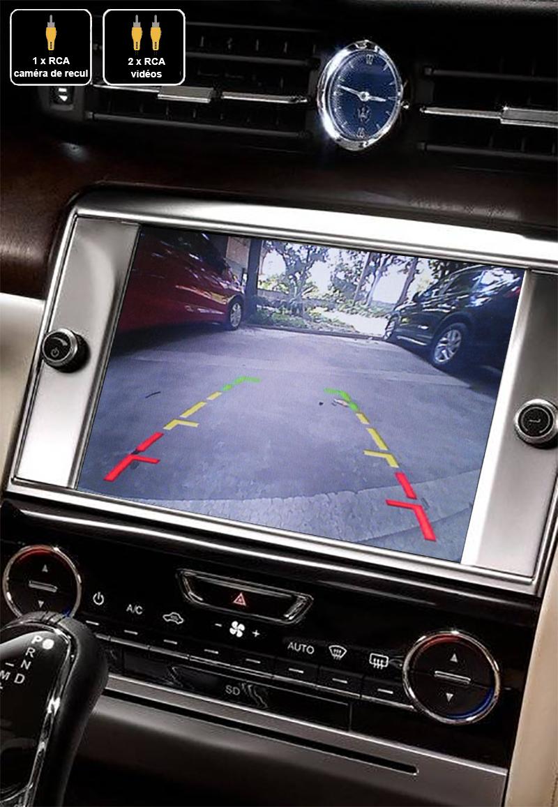 Interface Multimédia vidéo pour caméra compatible Maserati Quattroporte de 2013 à 2016