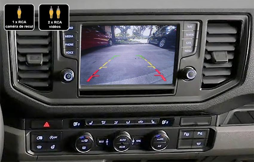 Interface Multimédia vidéo pour caméra compatible Volkswagen Crafter depuis 2017