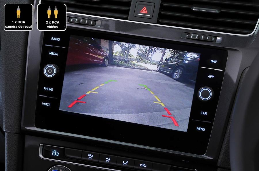 Interface Multimédia vidéo pour caméra compatible Volkswagen Golf 7 de 2012 à 2020