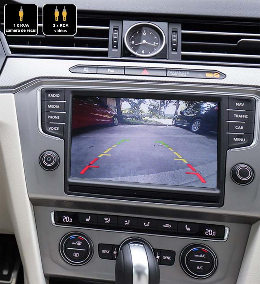 Interface Multimédia vidéo pour caméra compatible Volkswagen Passat depuis 2016