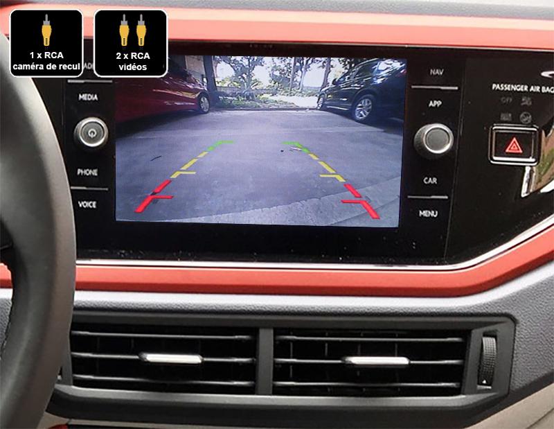 Interface Multimédia vidéo pour caméra compatible Volkswagen Polo à partir de 2017