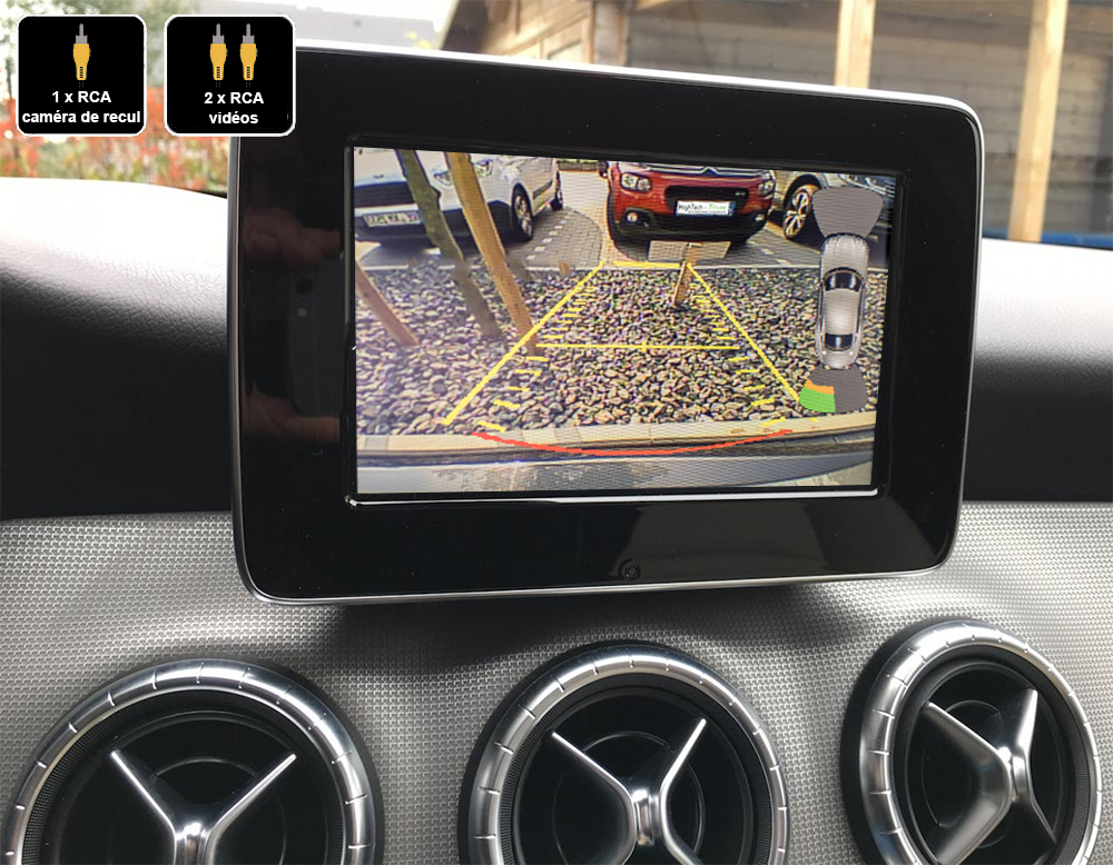 Interface Multimédia vidéo pour caméra compatible Mercedes CLA, GLA et Classe A de 2013 à 2019