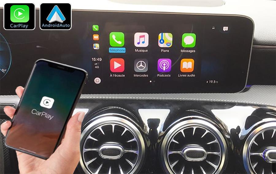 Système Apple Carplay sans fil et Android Auto pour Mercedes Classe A, Classe B, CLA, GLA et GLB depuis 2019