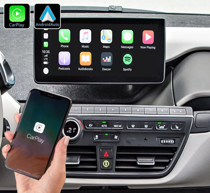 Système Apple Carplay sans fil et Android Auto pour BMW i3 depuis 2013