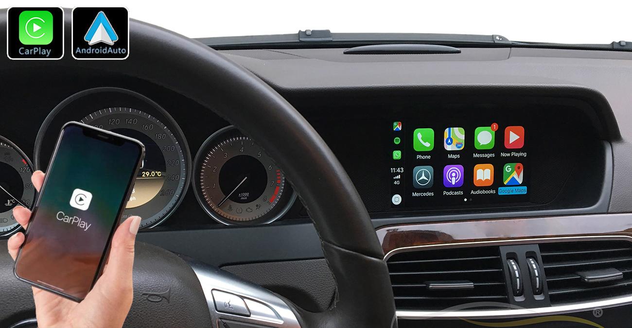 Système Apple Carplay sans fil et Android Auto pour  Mercedes Classe C W204 de 2012 à 2014