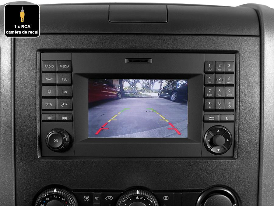 Interface Multimédia vidéo pour caméra de recul compatible Mercedes Sprinter W906 de 2013 à 2018
