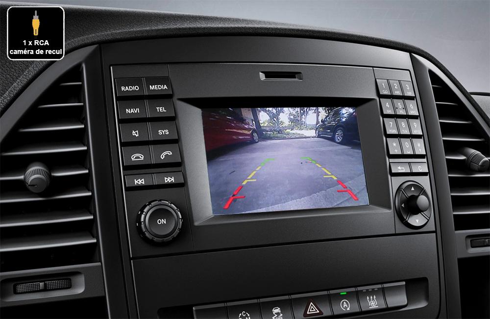 Interface Multimédia vidéo pour caméra de recul compatible Mercedes Vito W447 de 2015 à 2019