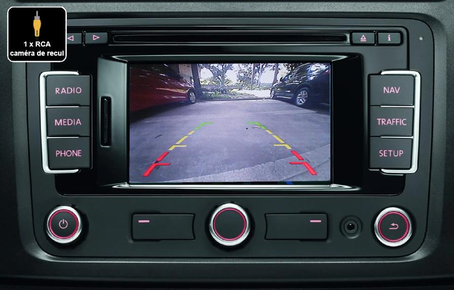 Interface Multimédia vidéo pour caméra compatible Volkswagen avec autoradio RCD510, RNS315, RNS510
