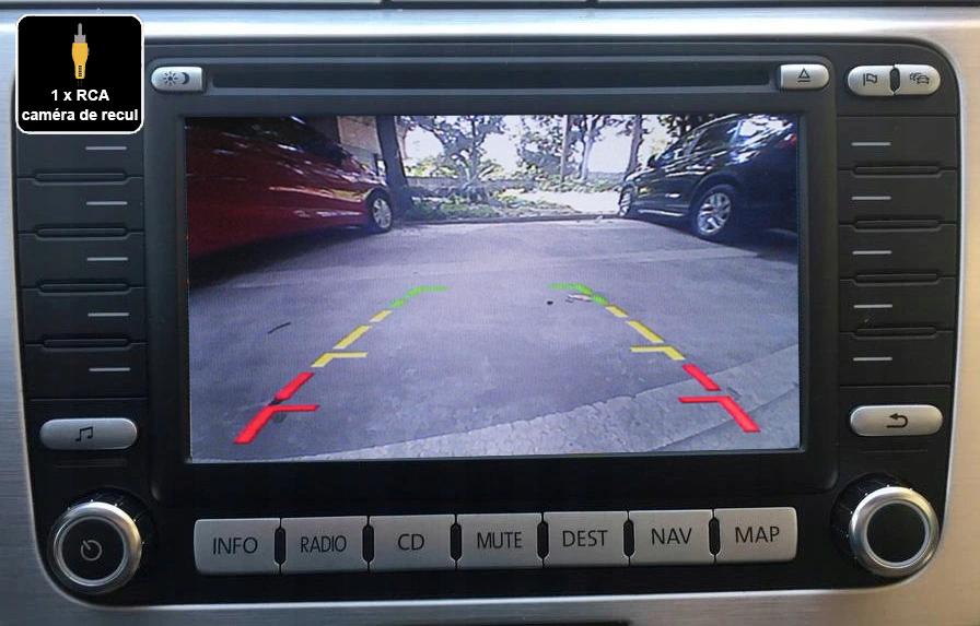 Interface Multimédia vidéo pour caméra compatible Volkswagen avec autoradio MFD2