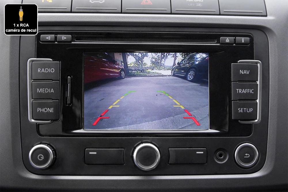 Interface Multimédia vidéo pour caméra compatible Seat avec autoradio RCD510, RNS315, RNS510