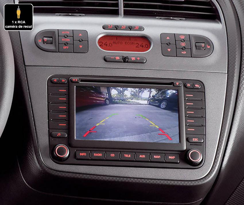 Interface Multimédia vidéo pour caméra compatible Seat avec autoradio MFD2