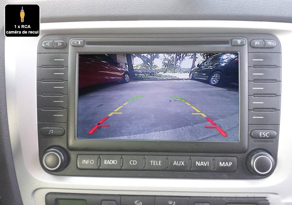 Interface Multimédia vidéo pour caméra compatible Skoda Octavia avec poste MFD2