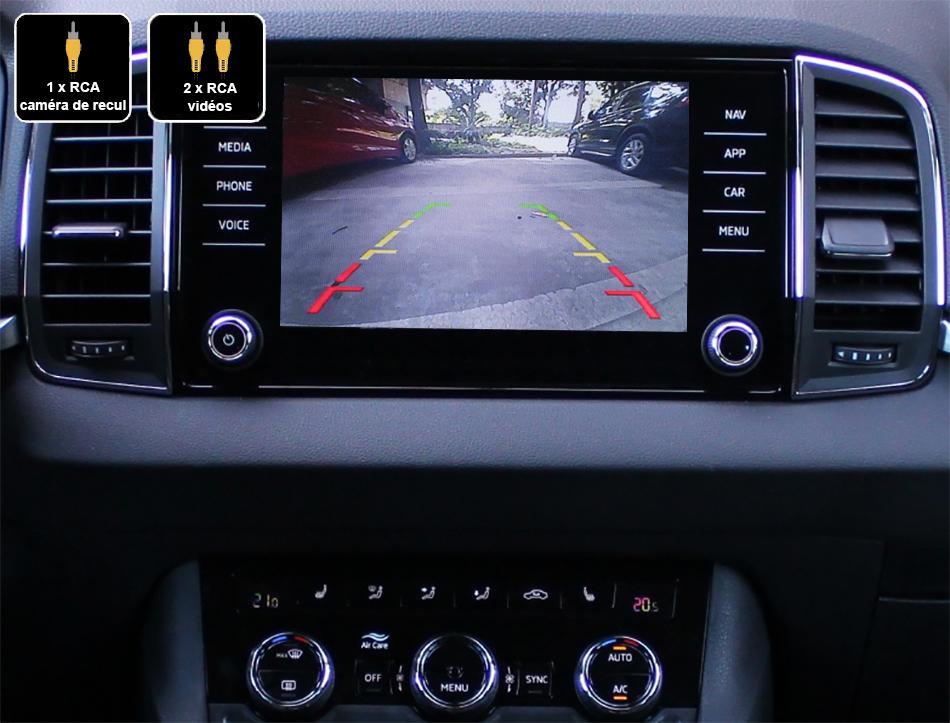 Interface Multimédia vidéo pour caméra compatible Skoda Karoq depuis 2018