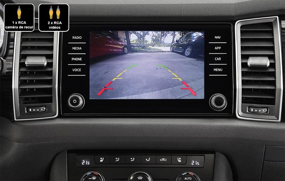 Interface Multimédia vidéo pour caméra compatible Skoda Kodiaq depuis 2017