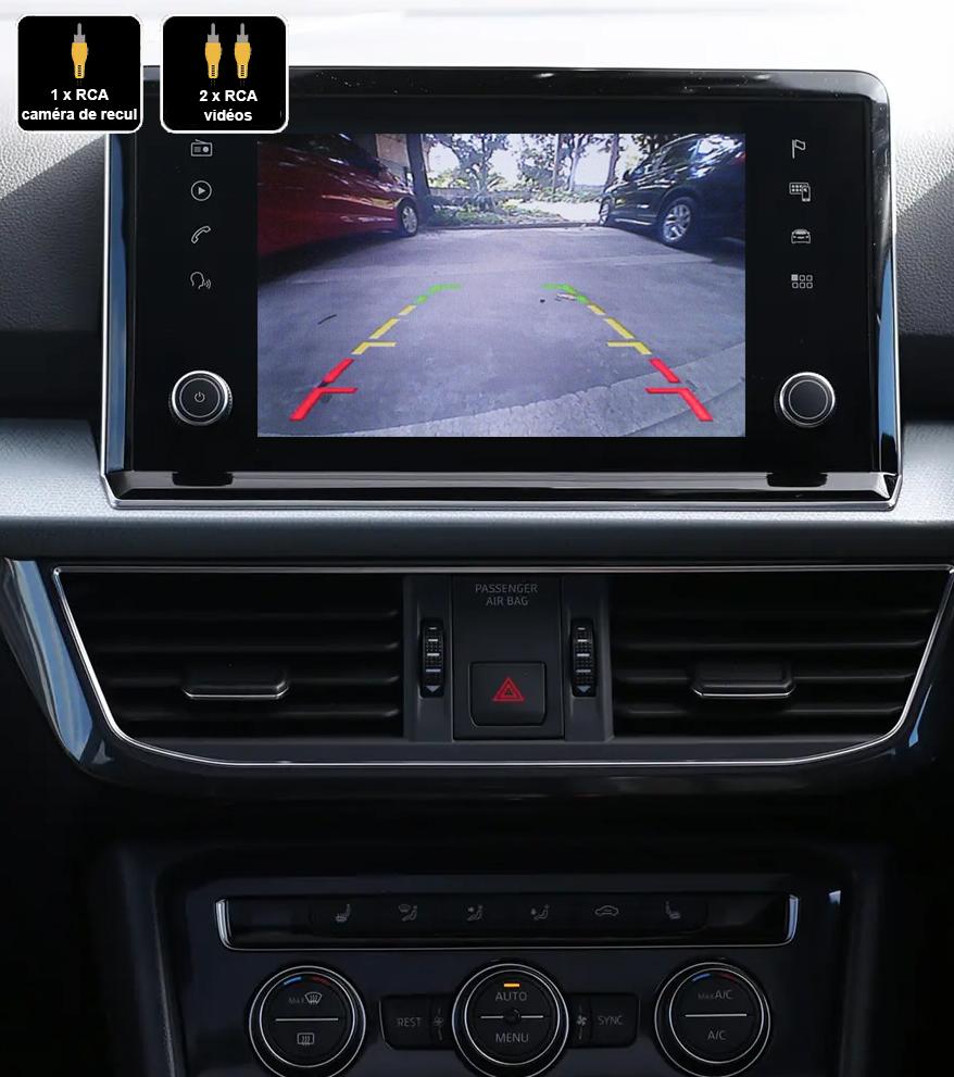 Interface Multimédia vidéo pour caméra compatible Seat Tarraco depuis 2018