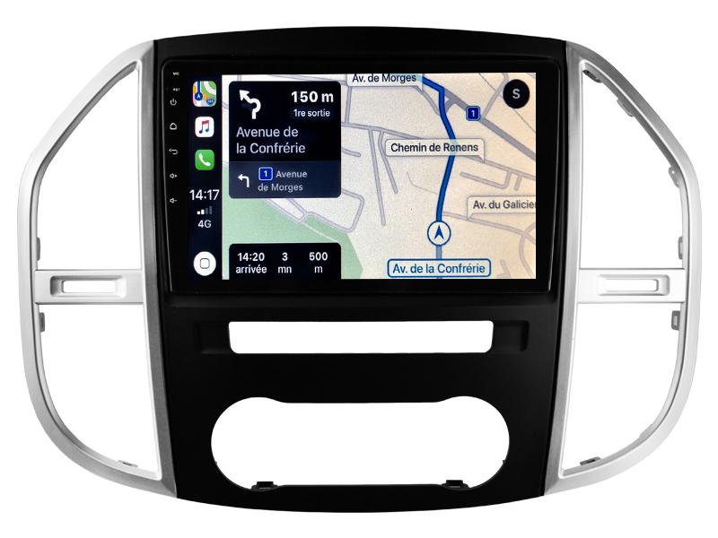 Autoradio GPS à écran tactile QLED Android 10.0 et Apple Carplay sans fil Mercedes Vito de 2015 à 2020