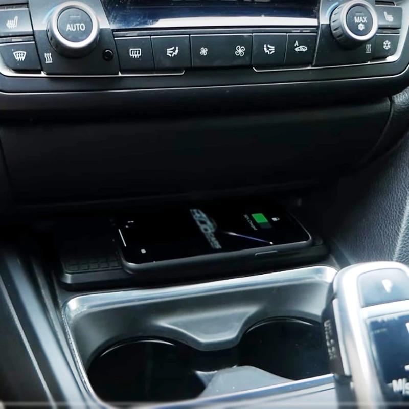 Chargeur à induction 10W iPhone, Xiaomi, Huawei et Samsung pour BMW Série 3 F30 et Série 4 de 2012 à 2018