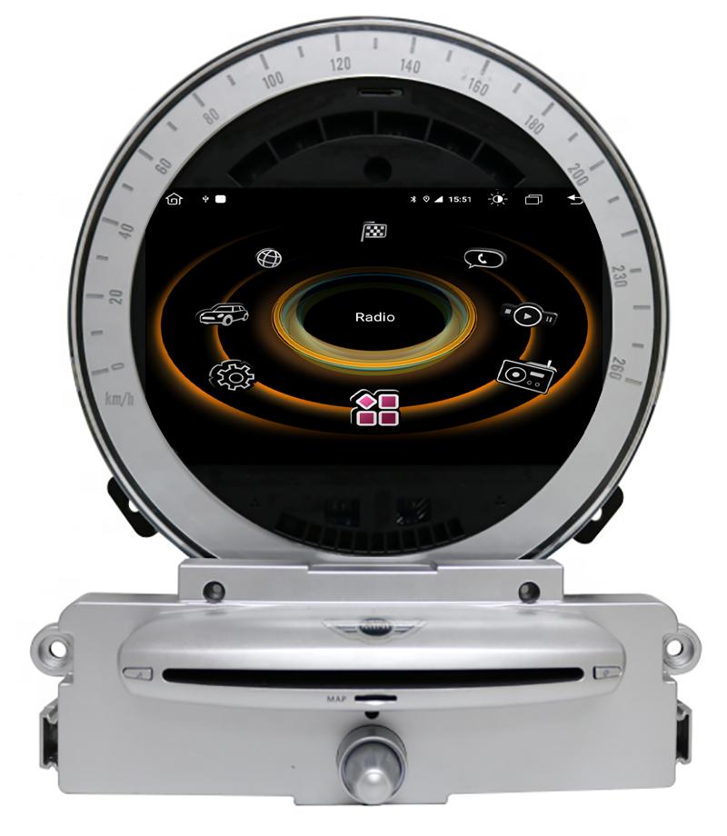 Autoradio tactile GPS Android 10.0 et Bluetooth Mini Cooper, Cabriolet et Clubman de 2006 à 2010