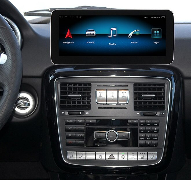 Autoradio tactile Android 10.0 et Apple Carplay Mercedes Classe G de 2013 à 2018