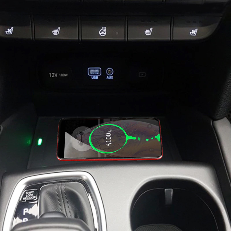 Chargeur à induction 10W iPhone, Xiaomi, Huawei et Samsung pour Hyundai Santa Fe depuis 2019
