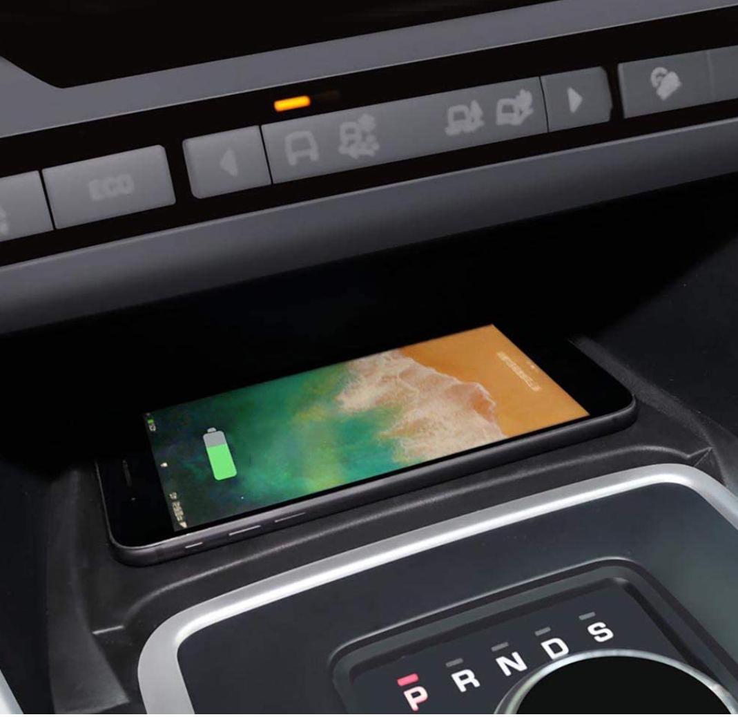 Chargeur à induction 10W iPhone, Xiaomi, Huawei et Samsung pour Land Rover Discovery Sport de 2015 à 2018