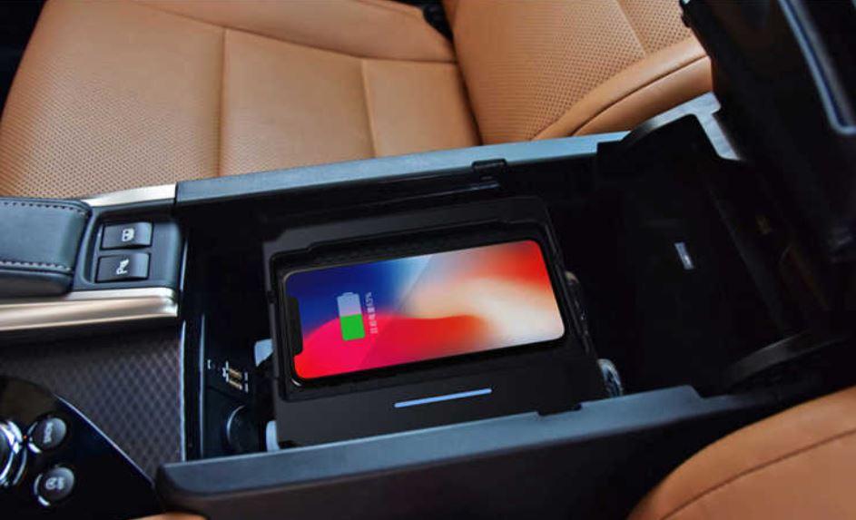 Chargeur à induction 10W iPhone, Xiaomi, Huawei et Samsung pour Lexus GS de 2014 à 2018