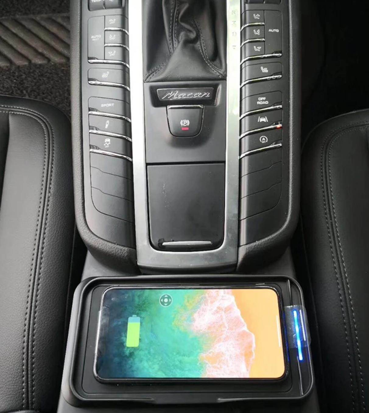 Chargeur à induction 10W iPhone, Xiaomi, Huawei et Samsung pour Porsche Macan de 2014 à 2019