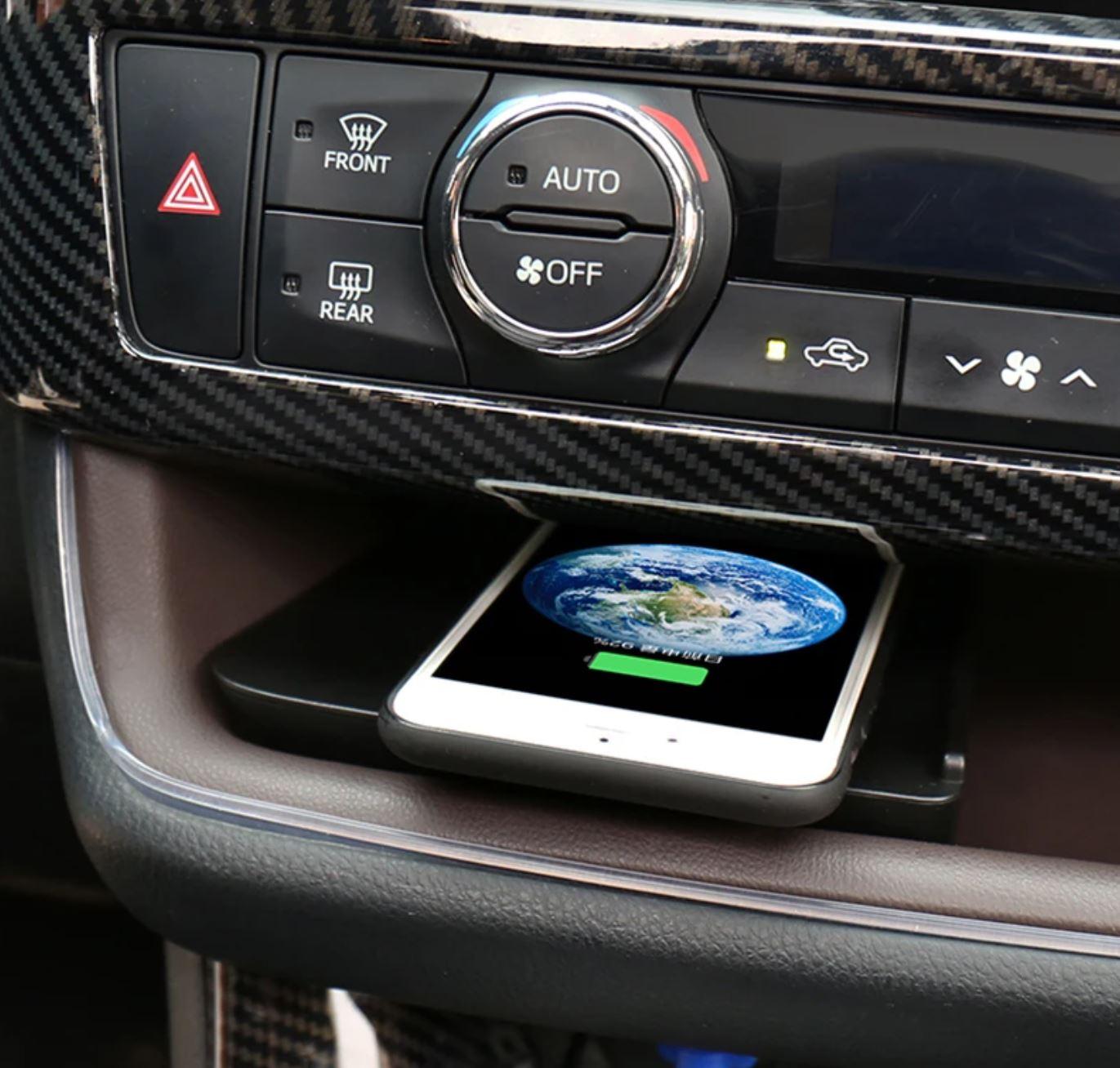 Chargeur à induction 10W iPhone, Xiaomi, Huawei et Samsung pour Toyota Highlander de 2015 à 2018