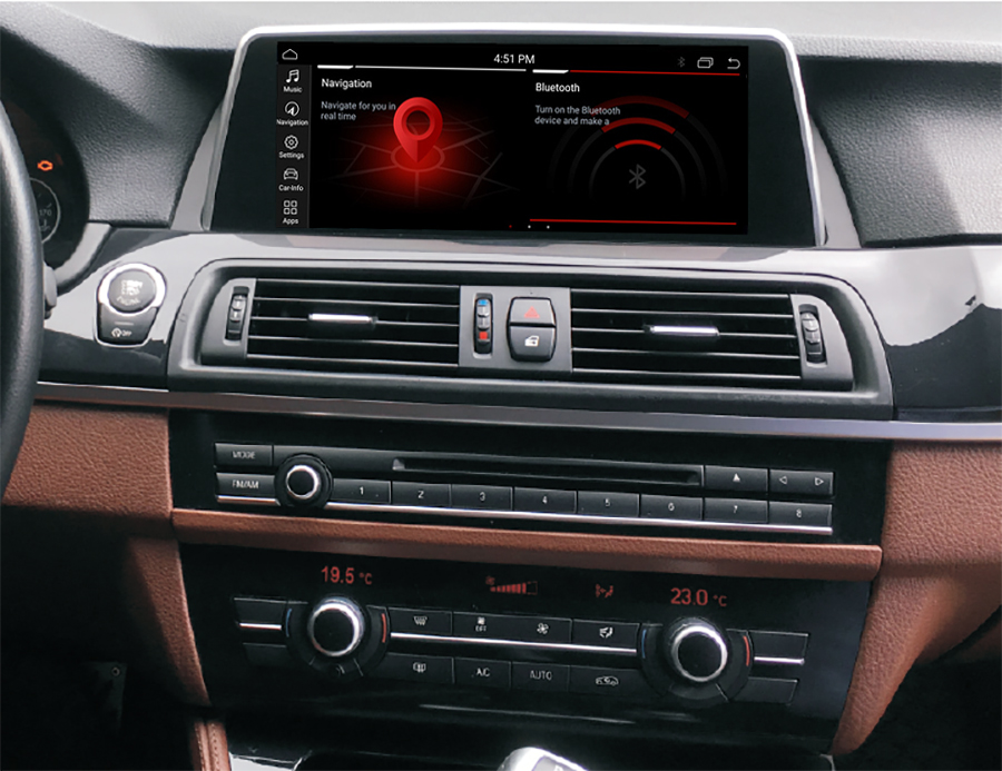 Autoradio tactile Android 10.0 et Apple Carplay BMW Série 5 F10 et Série 5 GT F07 de 2011 à 2017
