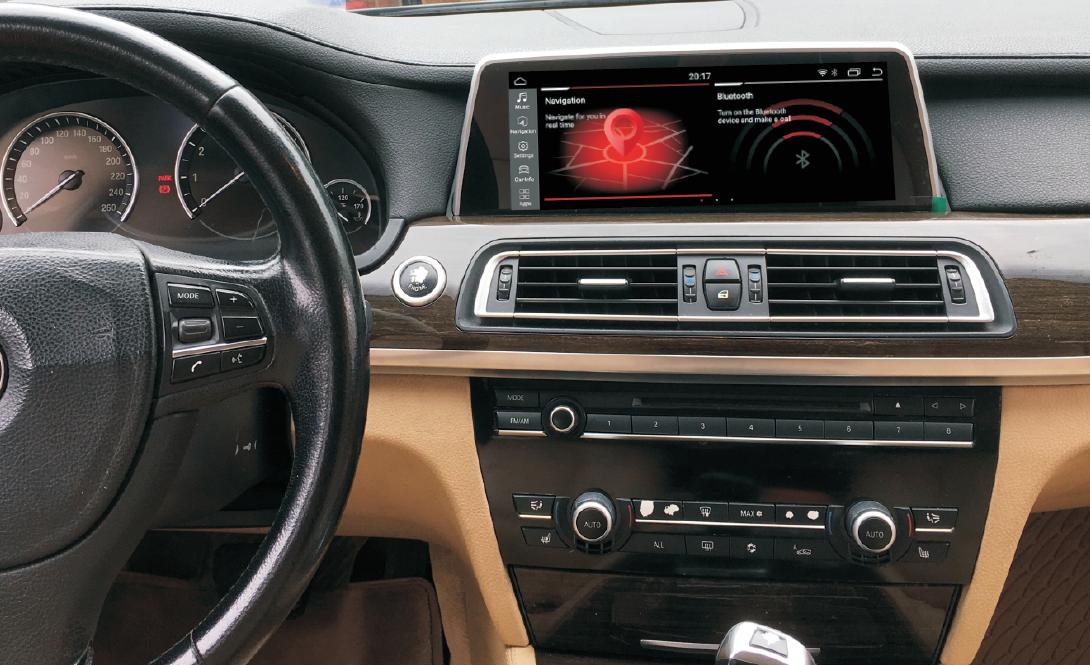 Autoradio tactile Android 10.0 et Apple Carplay BMW Série 7 F01 F02 de 2009 à 2015