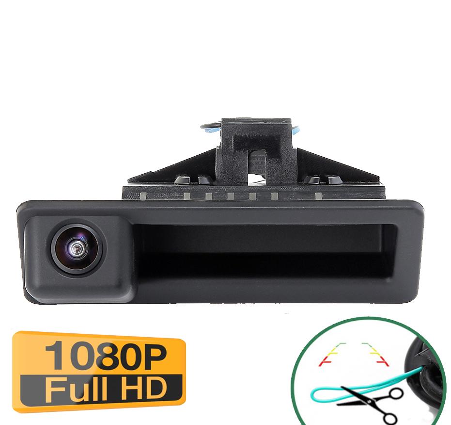 Caméra de recul avec poignée d\'ouverture de coffre pour BMW Série 3 série 5, X6, X5, X1 - qualité Full HD 1080P