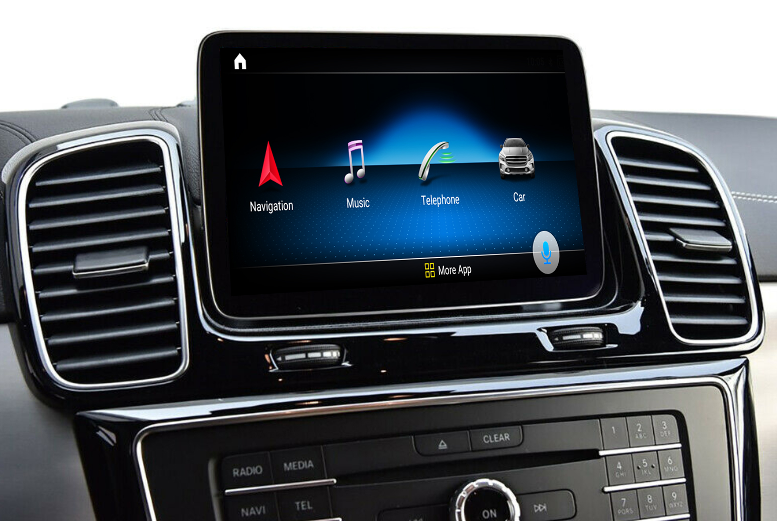 Autoradio tactile Android 10.0 et Apple Carplay Mercedes GLE et GLS de 2015 à 2019