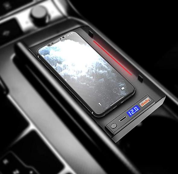 Chargeur à induction 10W iPhone, Xiaomi, Huawei et Samsung pour Audi A6 depuis 2019