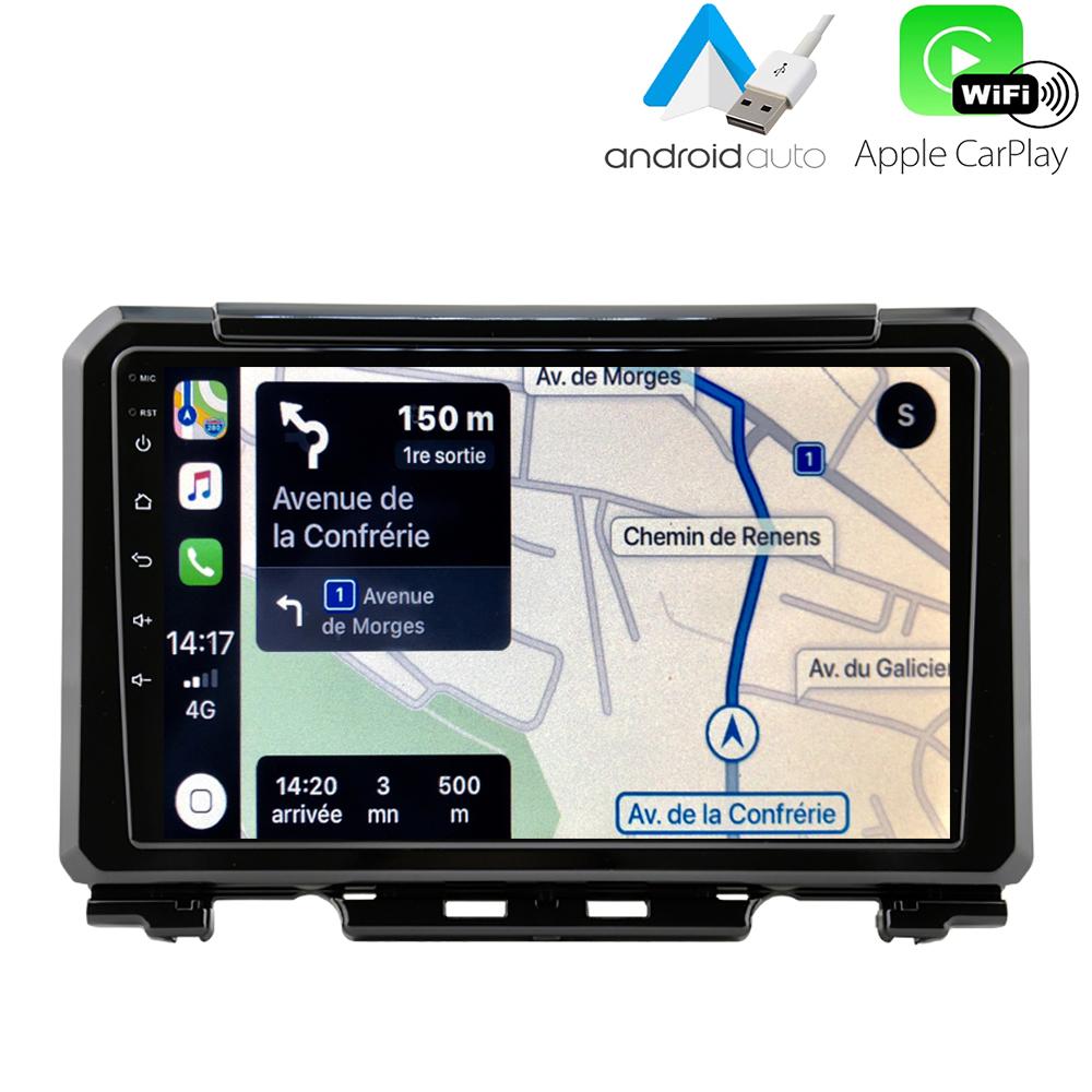 Autoradio GPS à écran tactile QLED Android 10.0 et Apple Carplay sans fil Suzuki Jimny depuis 2019