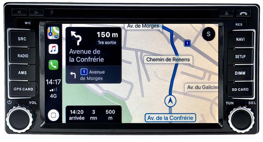 Autoradio tactile GPS Android 11.0 et Apple Carplay Subaru Impreza, Forester et XV de 2007 à 2013