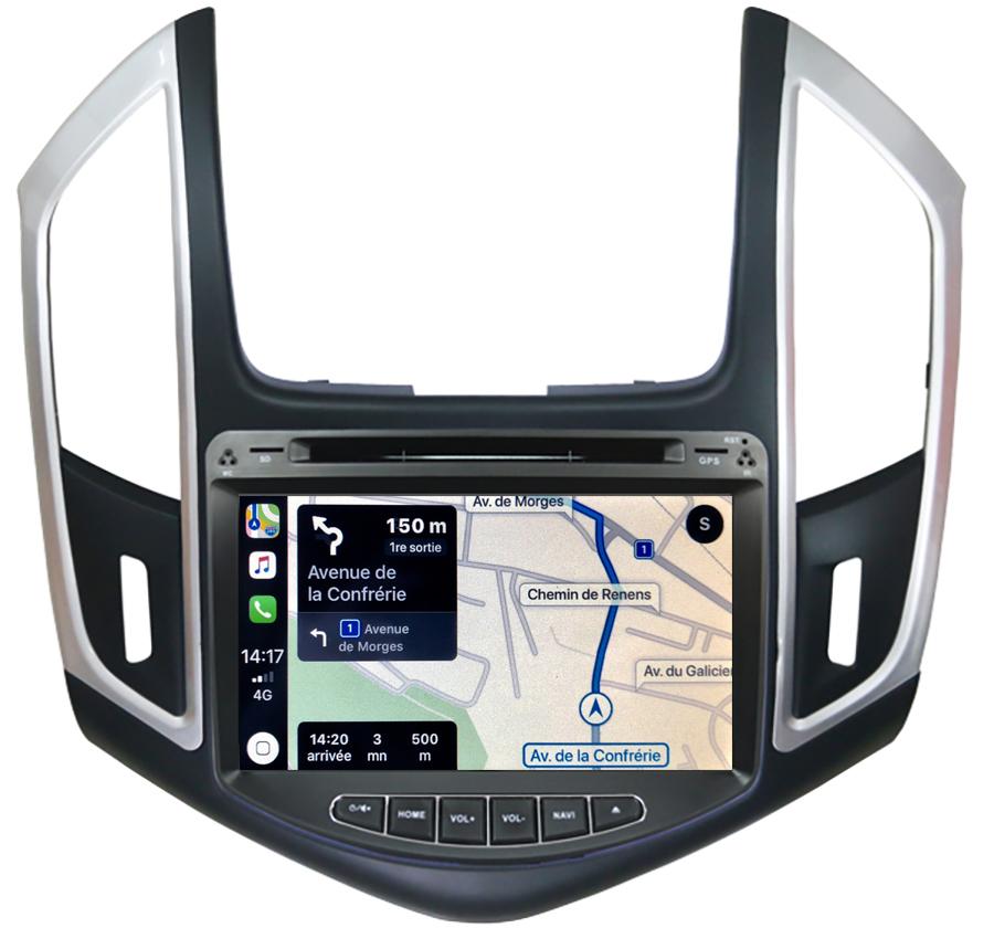 Autoradio tactile GPS Android 11.0 et Apple Carplay Chevrolet Cruze de 2013 à 2015