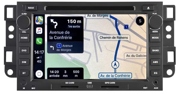 Autoradio tactile GPS Android 11.0 et Apple Carplay Chevrolet Epica, Aveo et Captiva de 2006 à 2011