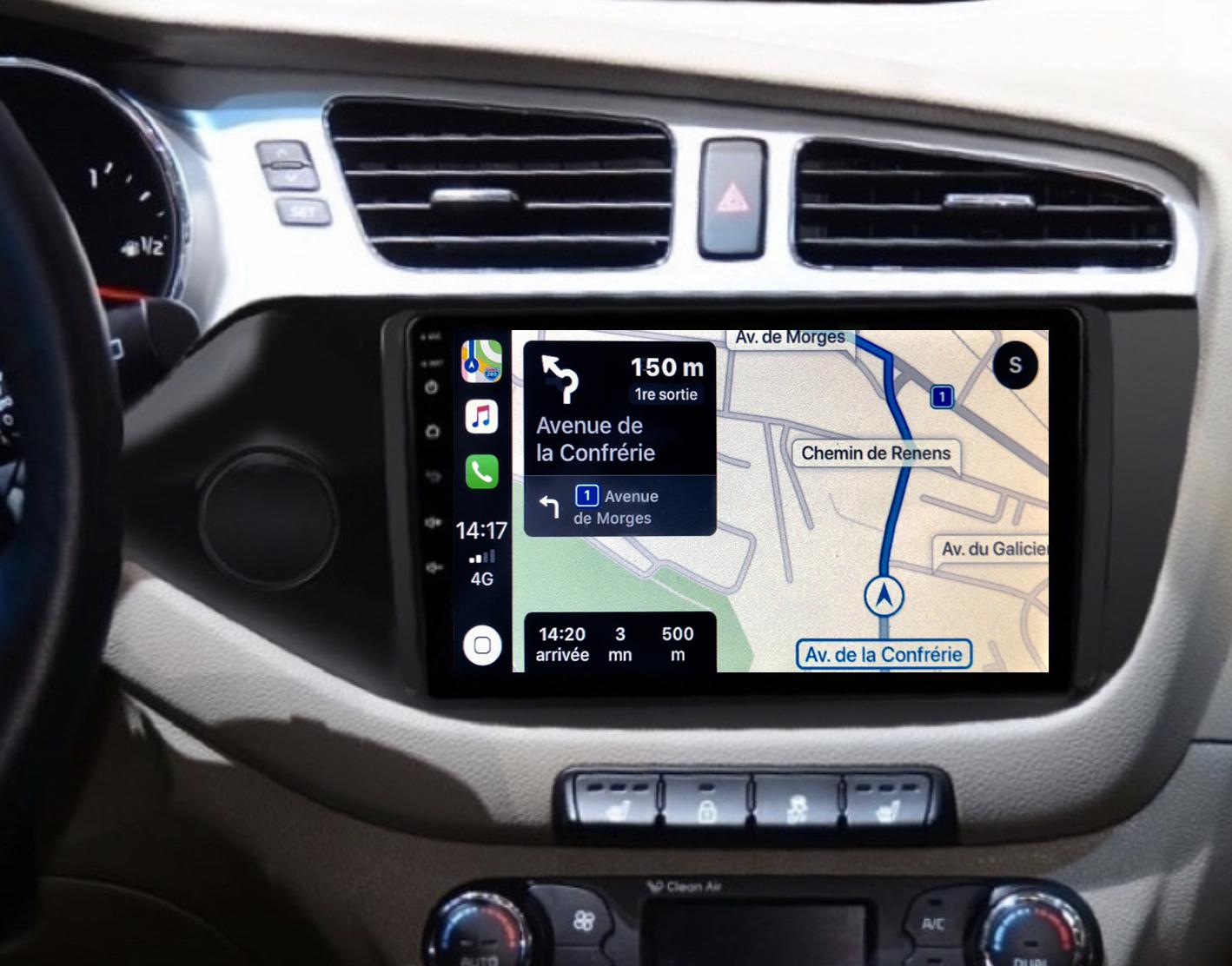 Autoradio GPS à écran tactile QLED Android 11.0 et Apple Carplay Kia Cee\'d de 04/2012 à 2018