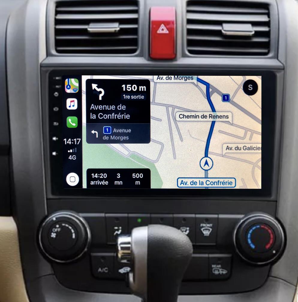 Autoradio GPS à écran tactile QLED Android 11.0 et Apple Carplay sans fil Honda CR-V 2006 à 2012