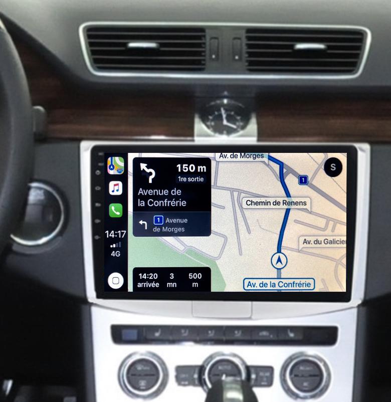 Autoradio GPS à écran tactile QLED Android 11.0 et Apple Carplay sans fil Volkswagen Passat de 2012 à 2015