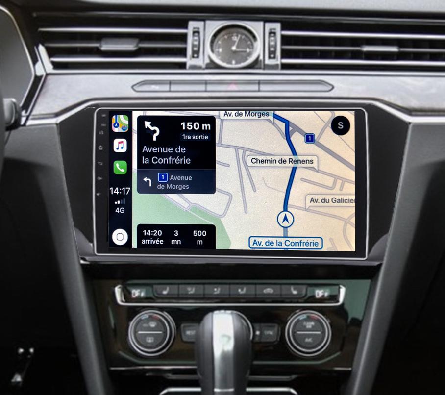 Autoradio GPS à écran tactile QLED Android 11.0 et Apple Carplay sans fil Volkswagen Passat de 2015 à 2019