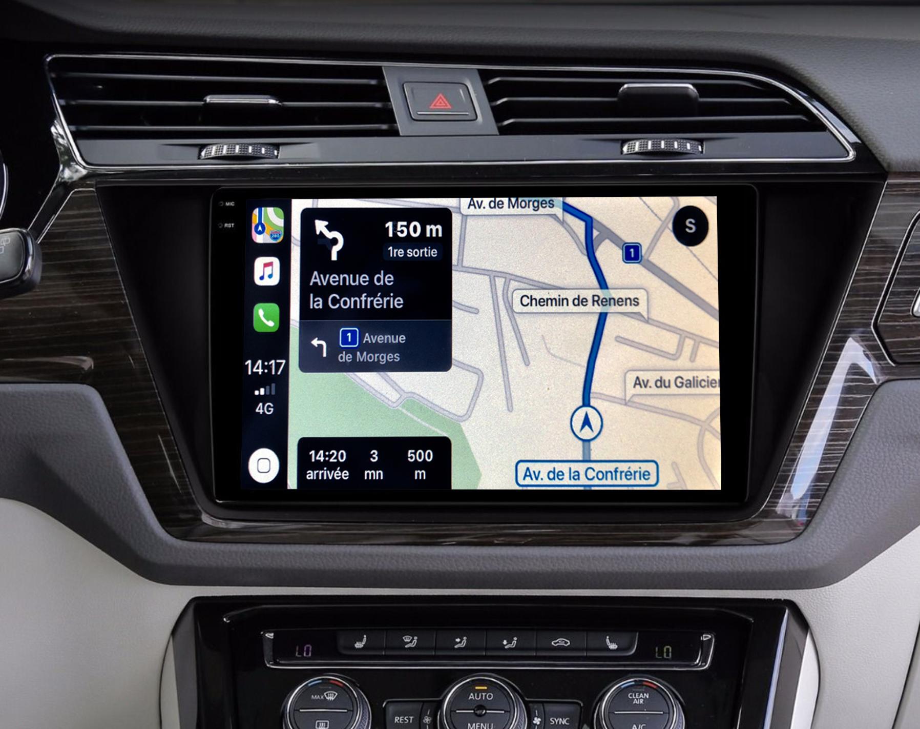 Autoradio GPS à écran tactile QLED Android 11.0 et Apple Carplay sans fil Volkswagen Touran depuis 2016