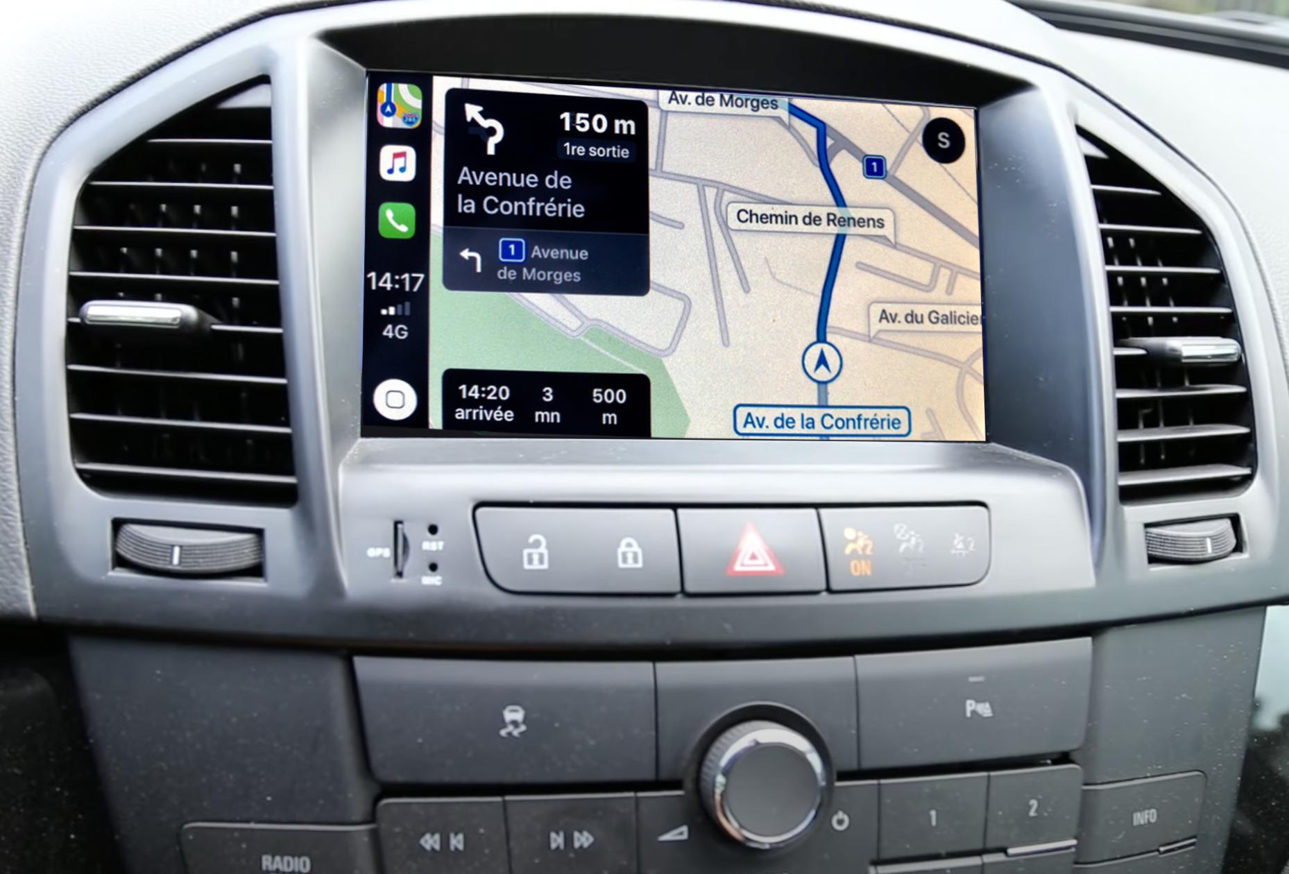 Autoradio tactile GPS Android 11.0 et Apple Carplay Opel Insignia de 11/2008 à 09/2013