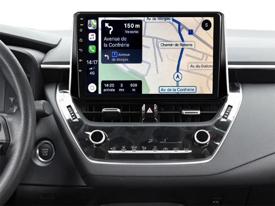Autoradio GPS à écran tactile QLED Android 11.0 et Apple Carplay sans fil Toyota Auris et Corolla depuis 2018