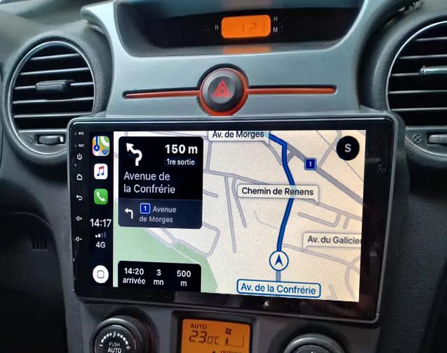 Autoradio GPS à écran tactile QLED Android 11.0 et Apple Carplay Kia Carens de 2007 à 2011